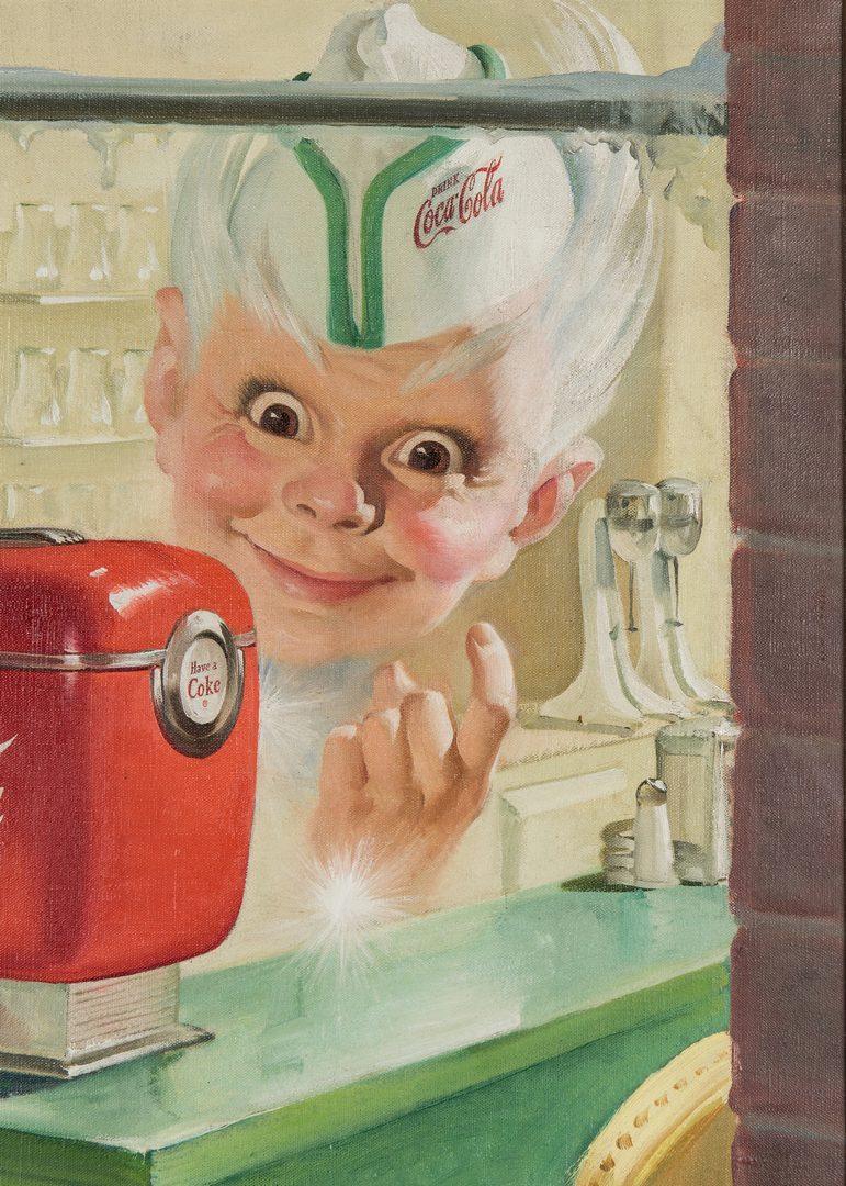 Lot 417: Manner of Sundblom O/C, Coca Cola Illustration
