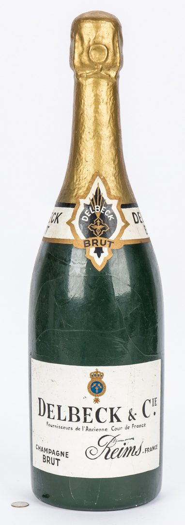 Lot 418: Vintage Champagne advertising bottle