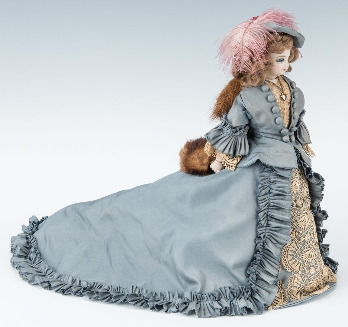 Lot 419: French Fashion Doll and 6 Half Dolls incl. Karl Schneide