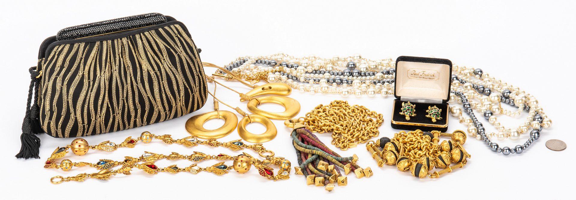 Lot 424: 7 Designer Items, incl. Leiber, Dior, Karan, Lane
