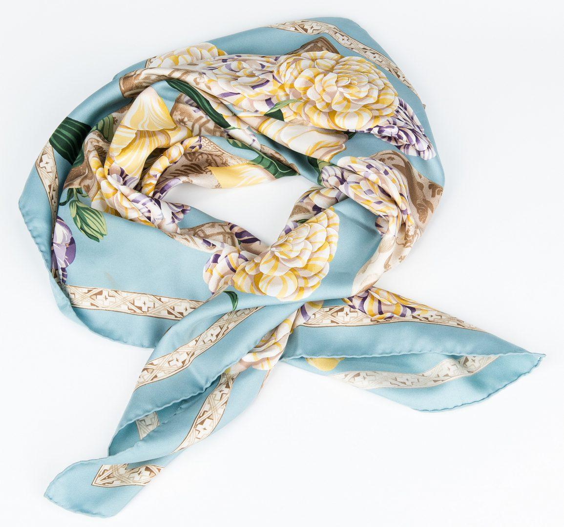 Lot 427: 4 Fashion Scarves, incl. Gucci, Eskandar, Moschino