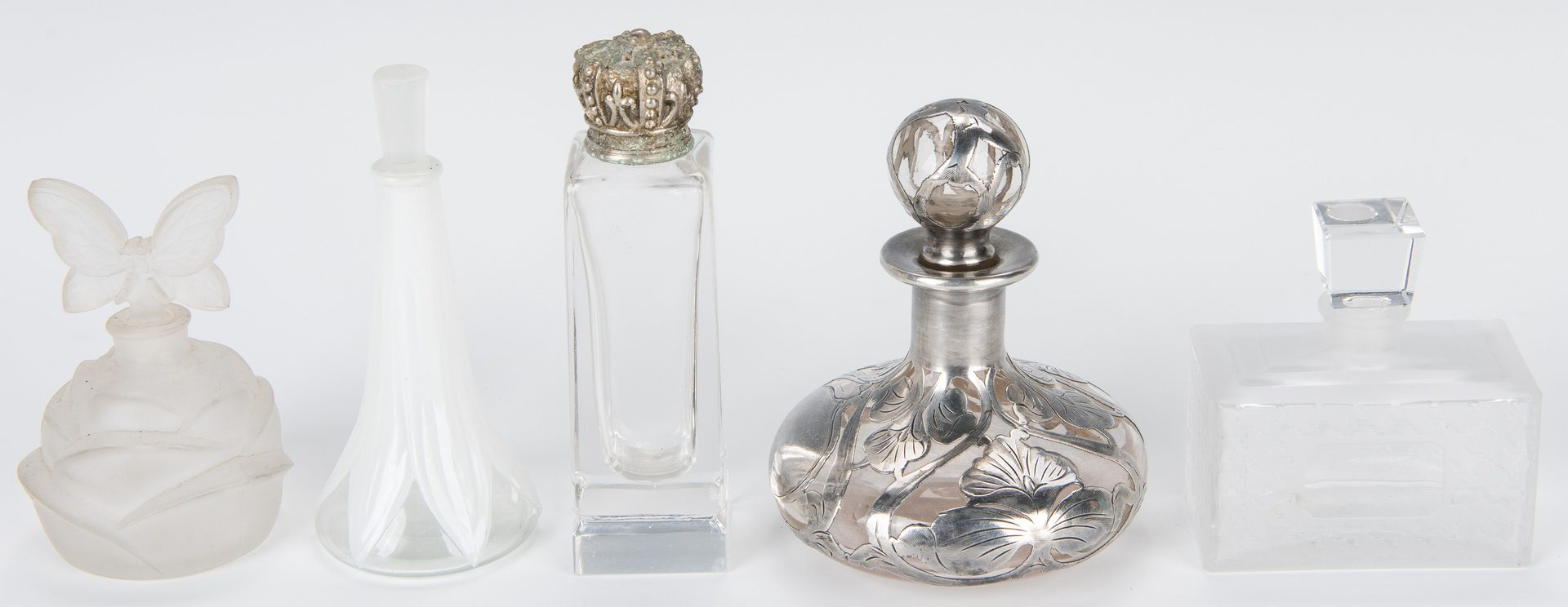 Lot 430: 25 Assorted Perfume Bottles & Stoppers