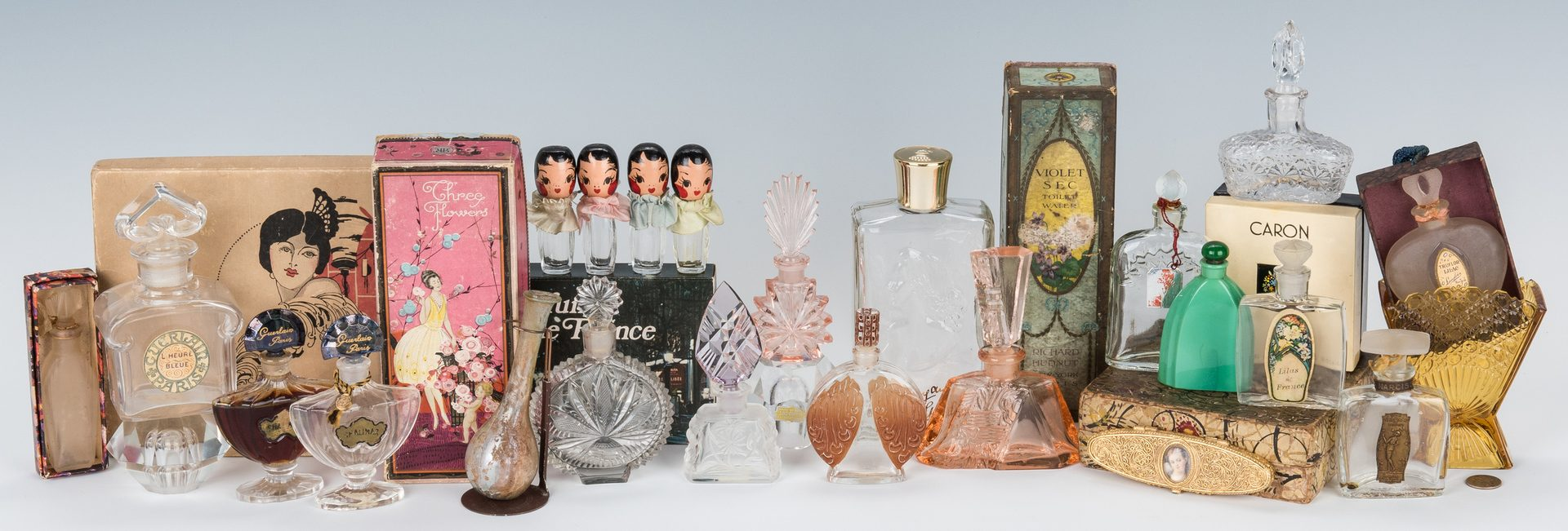 Lot 435: 28 Perfume Package Sets and Bottles