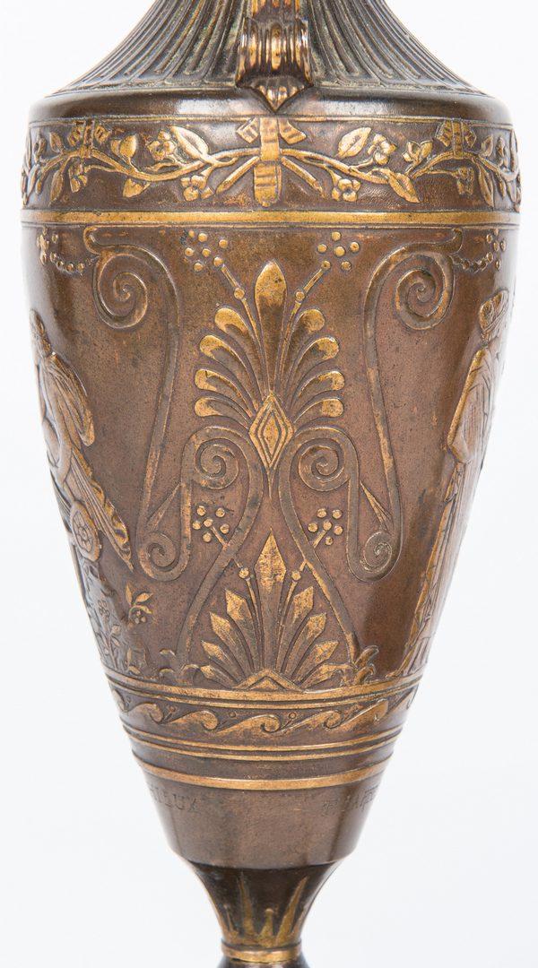 Lot 43: Pair of Barbedienne Bronze Lamps