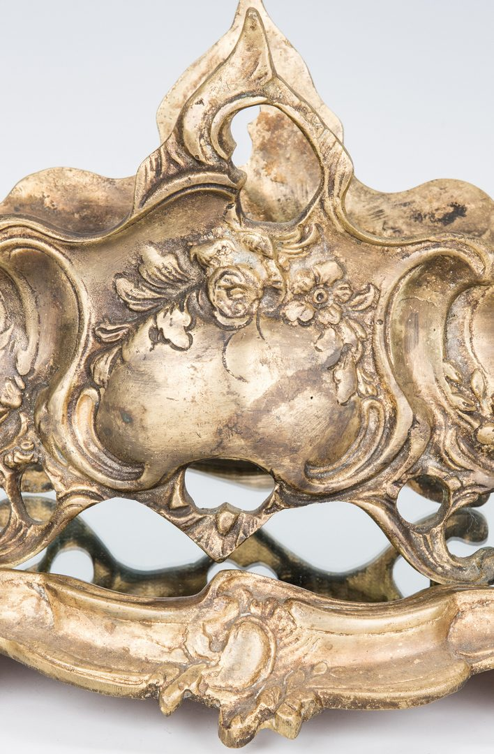 Lot 45: Rococo Style Bronze Centerpiece Jardiniere and Plateau