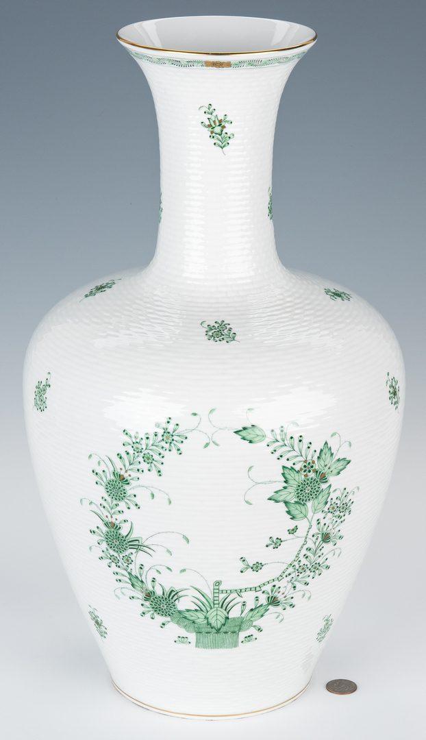 Lot 50: Large Herend Bottle Form Vase