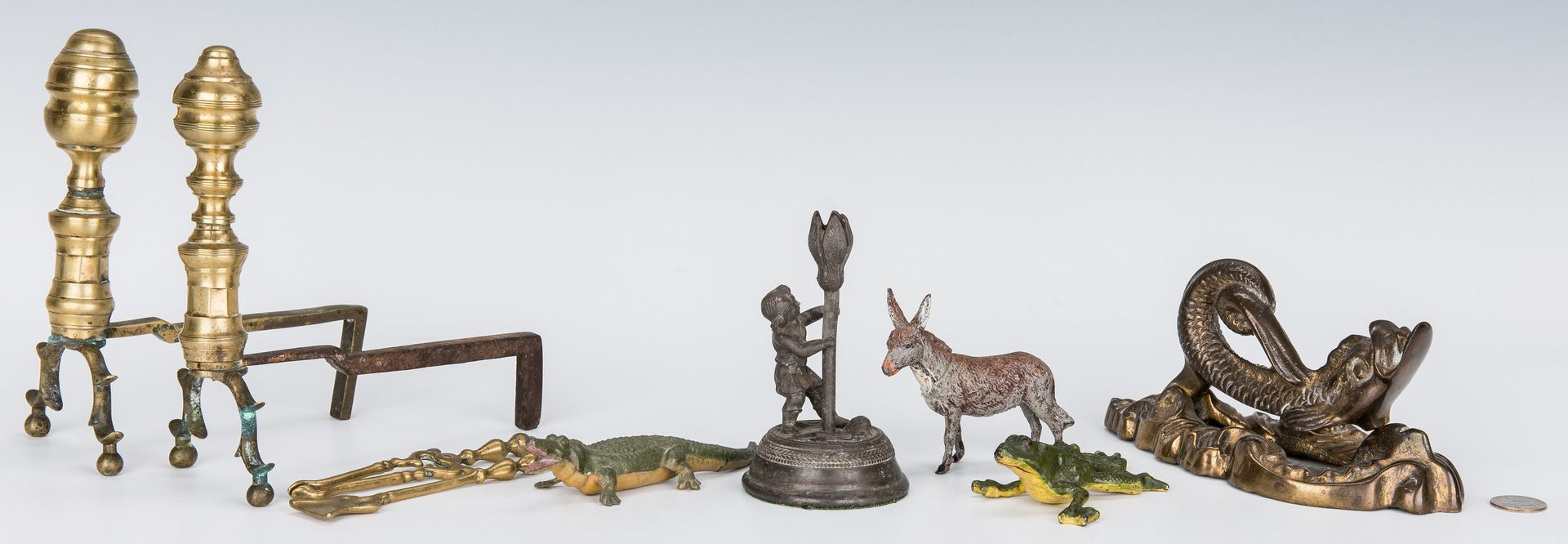 Lot 55: Group of Brass & Iron Items, incl. miniatures