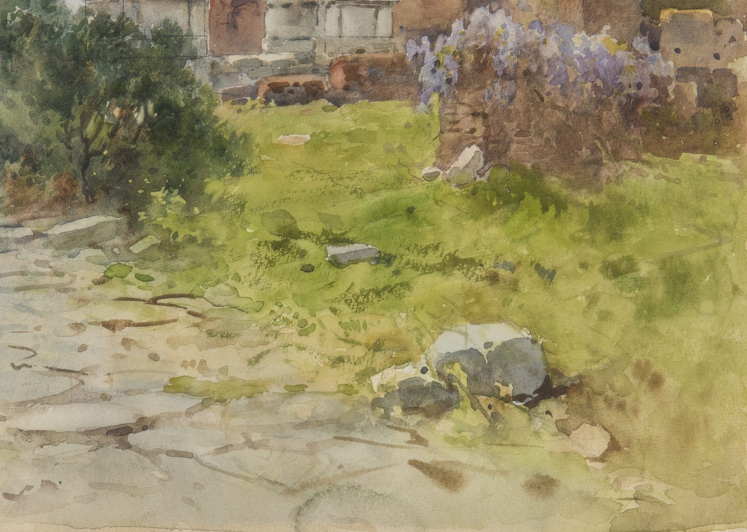 Lot 62: Filippo Anivitti Italian Landscape Watercolor