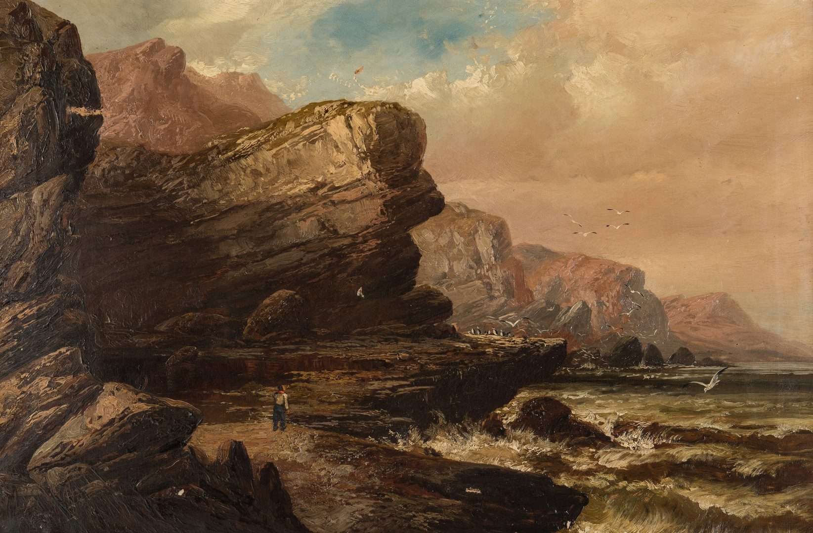 Lot 66: Clarence Roe O/C, Seascape Painting