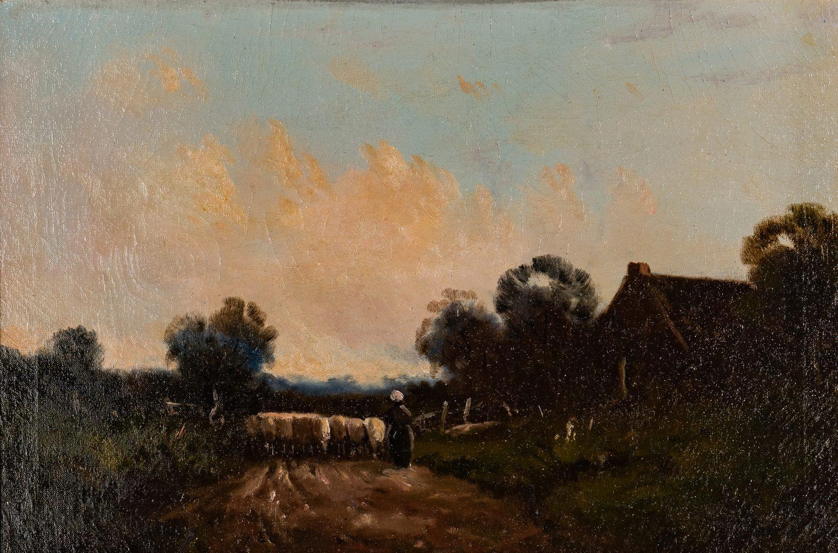 Lot 69: 2 European School Oil Landscapes