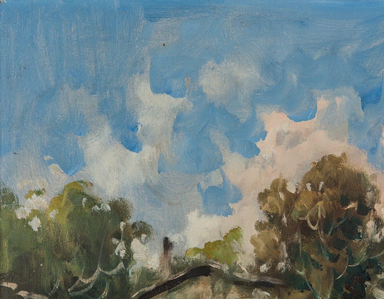 Lot 71: European School, 20th c. Landscape Oil