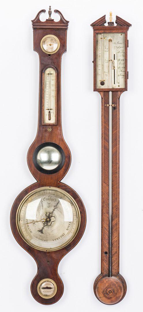 Lot 78: 2 English/Scottish Barometers, incl. inlaid