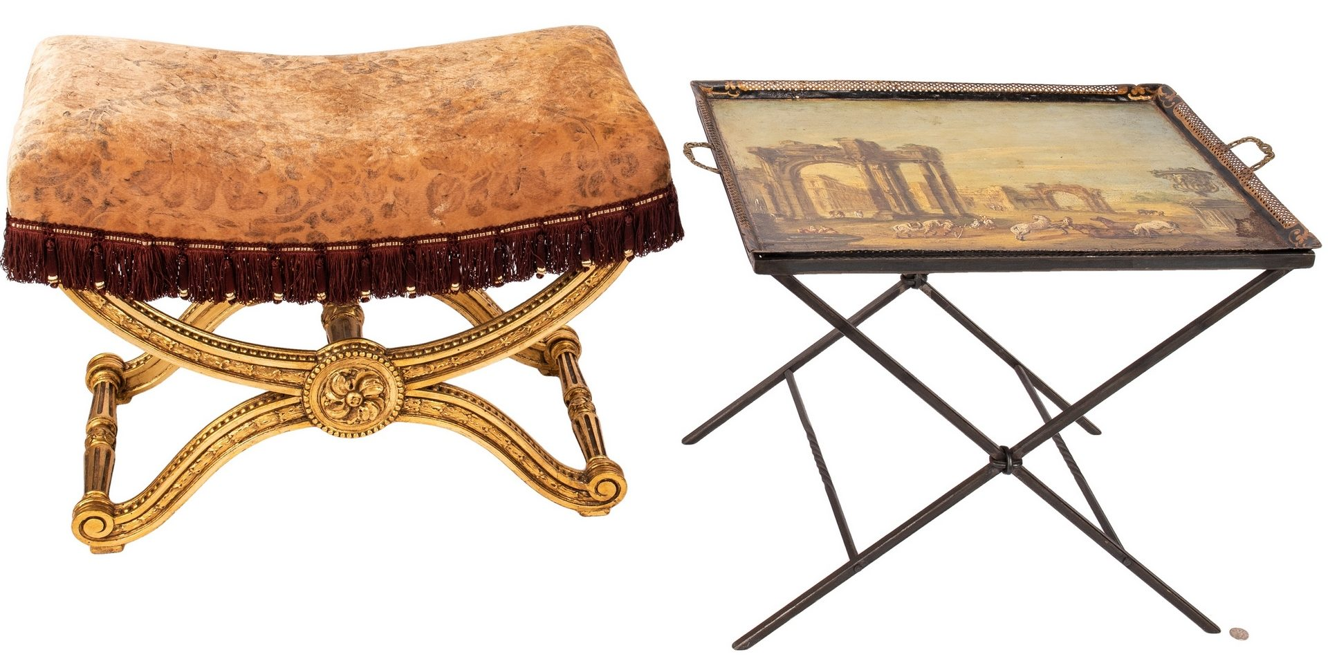 Lot 83: 2 European Furniture Items, French & Italian