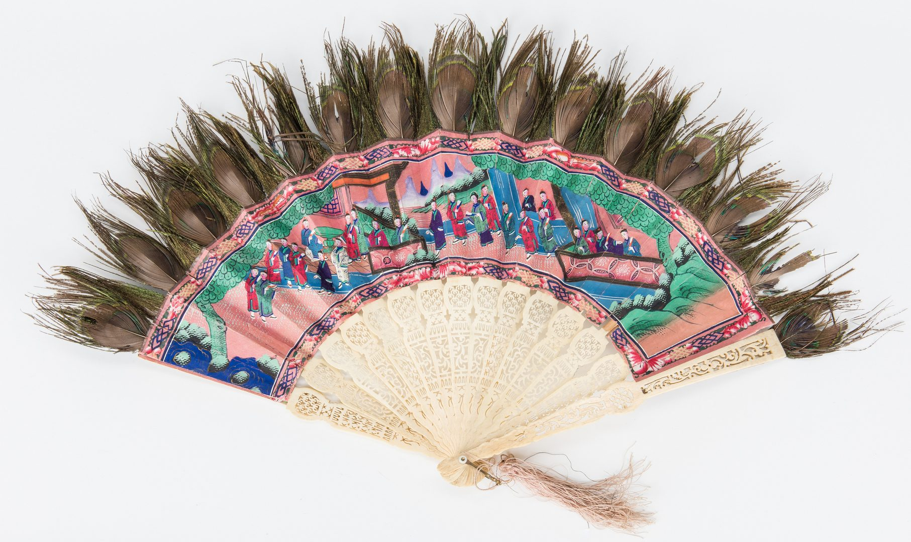Lot 8: 3 Asian Fans in Lacquer Fan Boxes