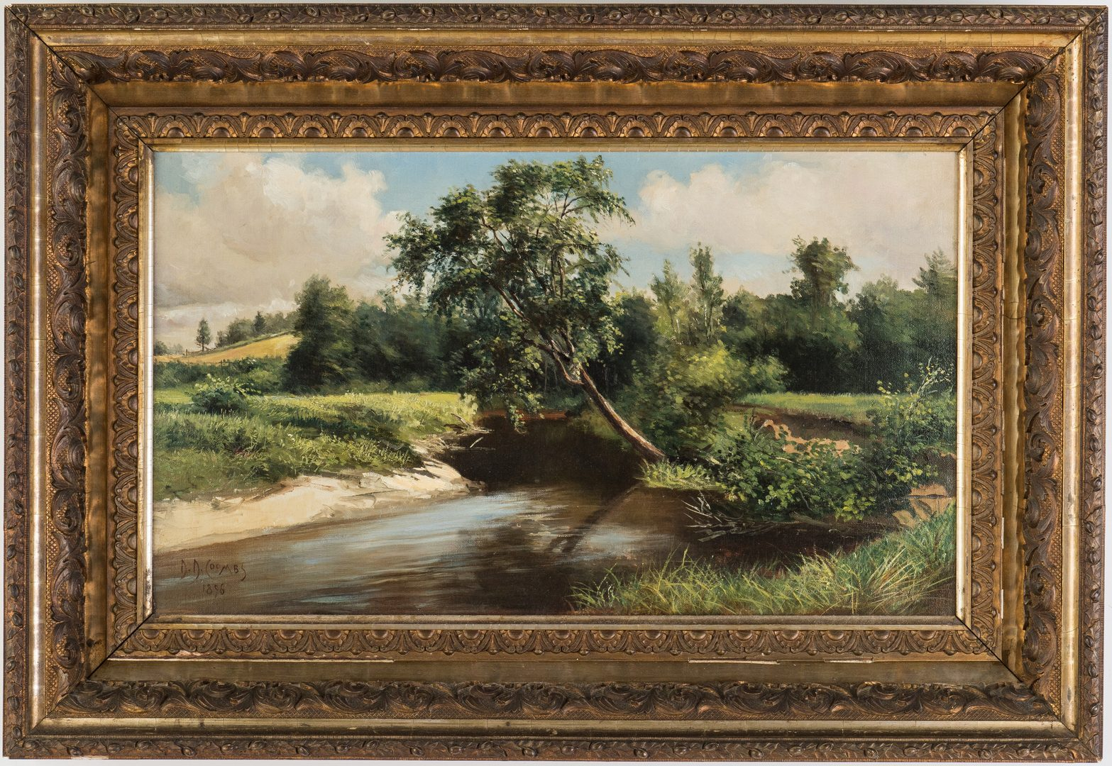 Lot 91: D. D. Coombs O/C, Maine Landscape Painting