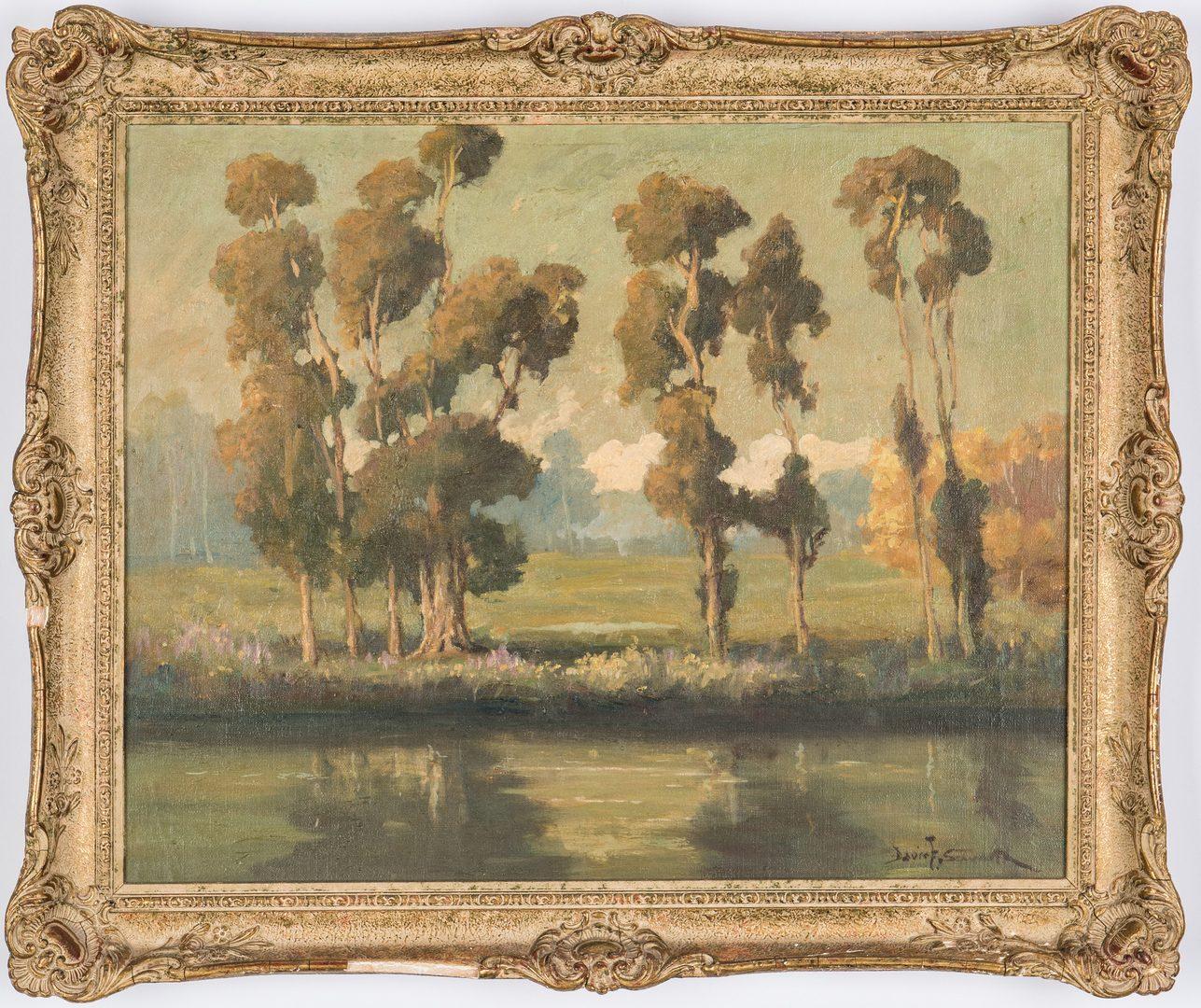 Lot 92: Davis Schwartz Landscape with Eucalyptus