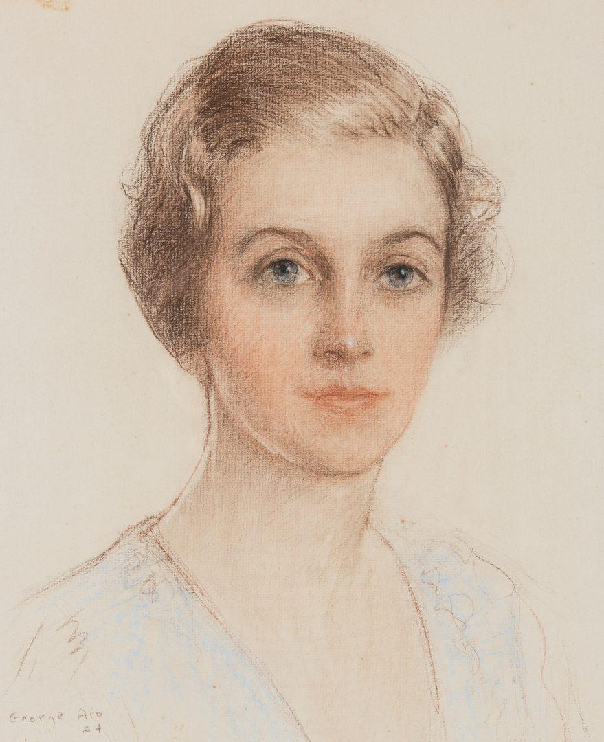 Lot 93: George C. Aid Pastel Portrait of a Woman