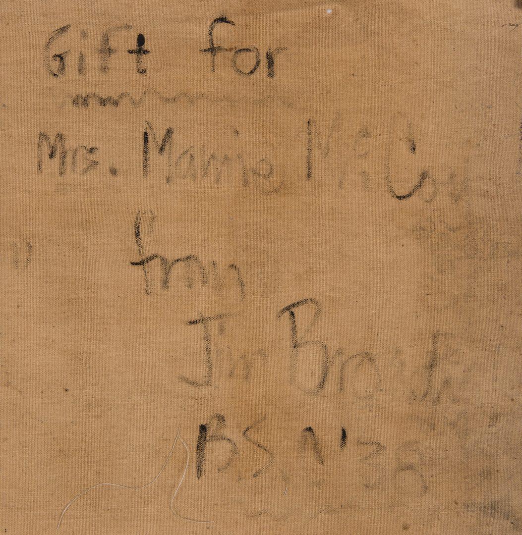 """Lot 95: James A. Broady, Jr.  O/C """"Maine Woods"""""""