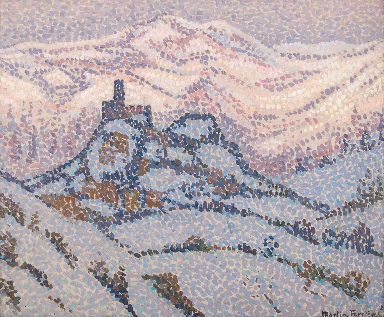Lot 102: Jacques Martin Ferrieres O/C, Abbruzzes Snow Scene