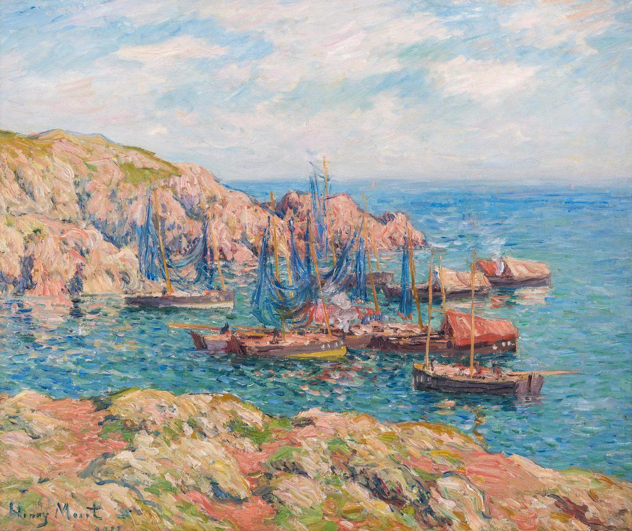 Lot 105: Henry Moret Landscape Painting