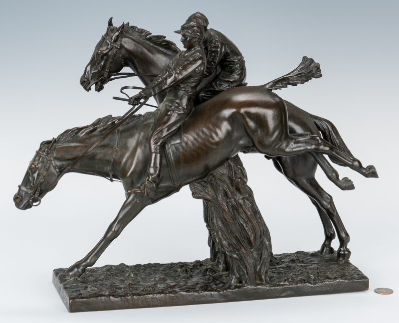 Lot 106: Jean-Leon Gerome Bronze Sculpture, Jockeys on Horseback