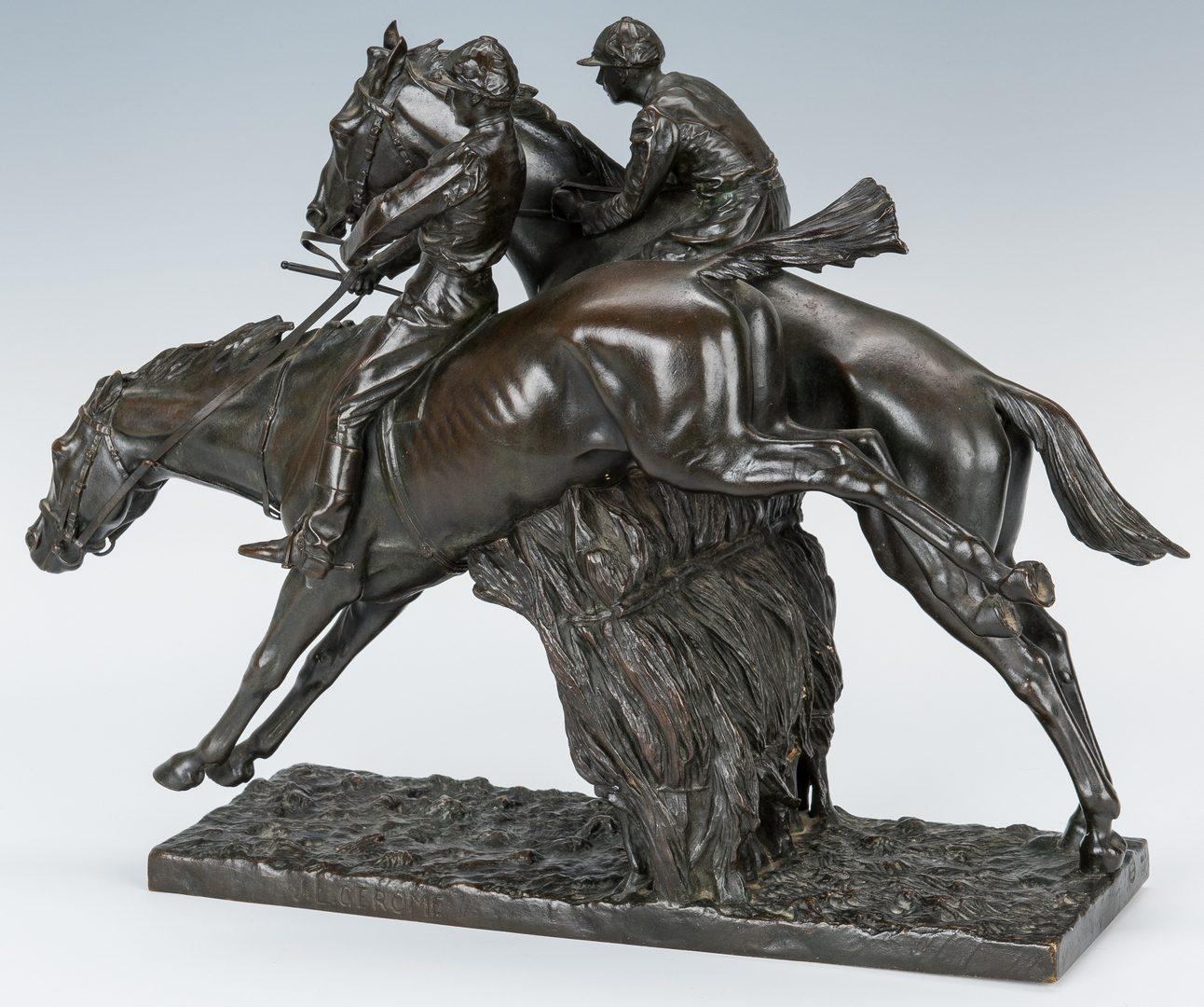 Lot 106: Jean-Leon Gerome Bronze Sculpture, Jockeys on Horseback