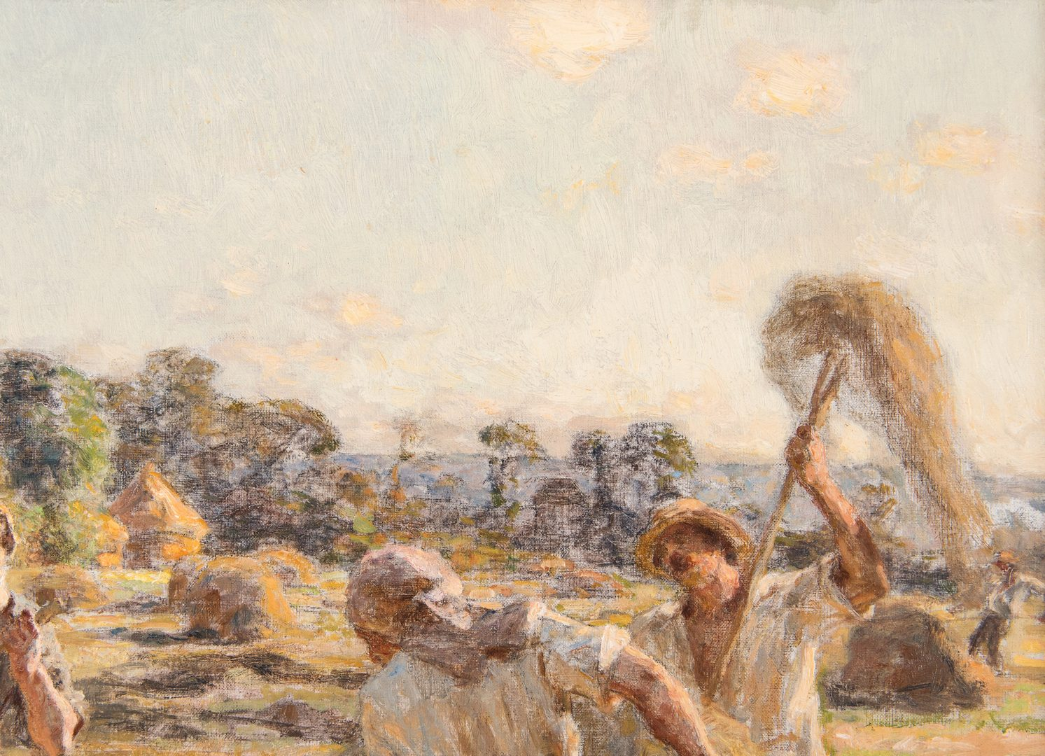 Lot 107: Leon L'Hermitte Oil Painting of Workers in Field