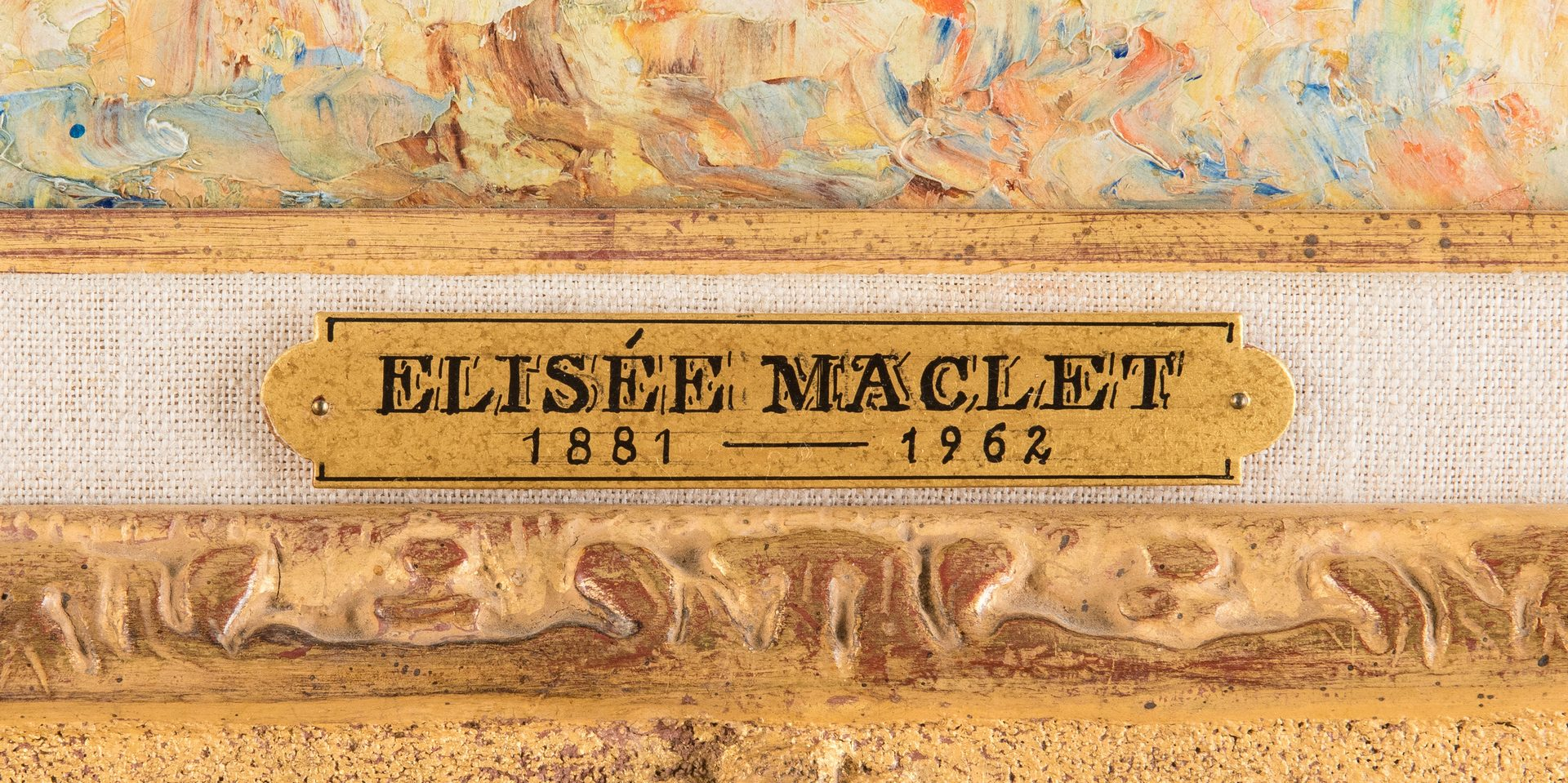 Lot 109: Elise Maclet O/C, Paris Street Scene