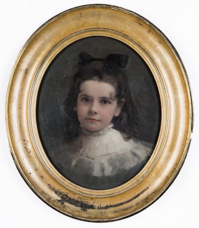 Lot 113: Lloyd Branson O/B, Portrait of Artist's Niece