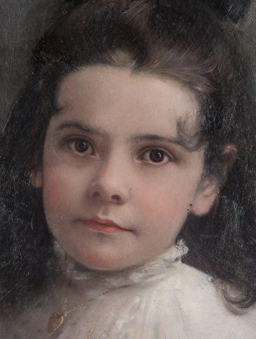 Lot 113: Lloyd Branson O/B, Portrait of Artist's Niece