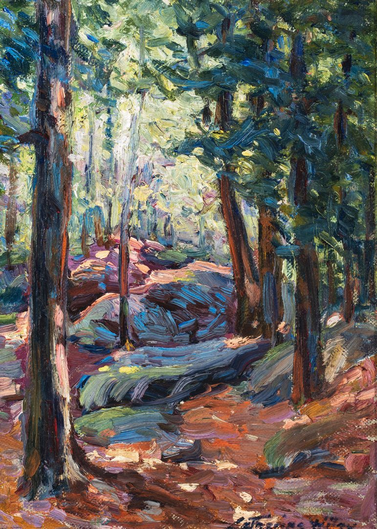 Lot 115: Catherine Wiley O/C Forest Landscape