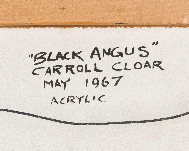 Lot 116: Carroll Cloar Painting, Black Angus