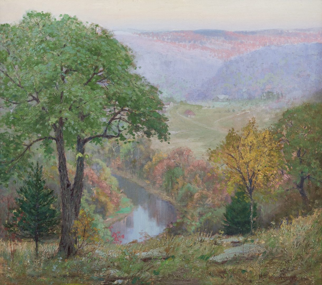 Lot 122: Rudolph Ingerle O/C, The Fascinating Ozarks