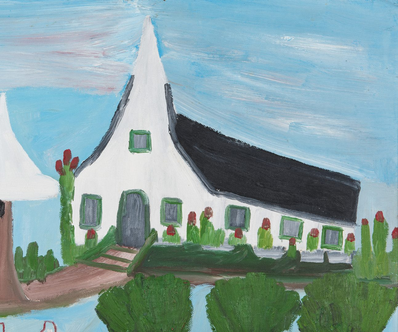 Lot 123: Clementine Hunter Folk Art Painting, Going to Church