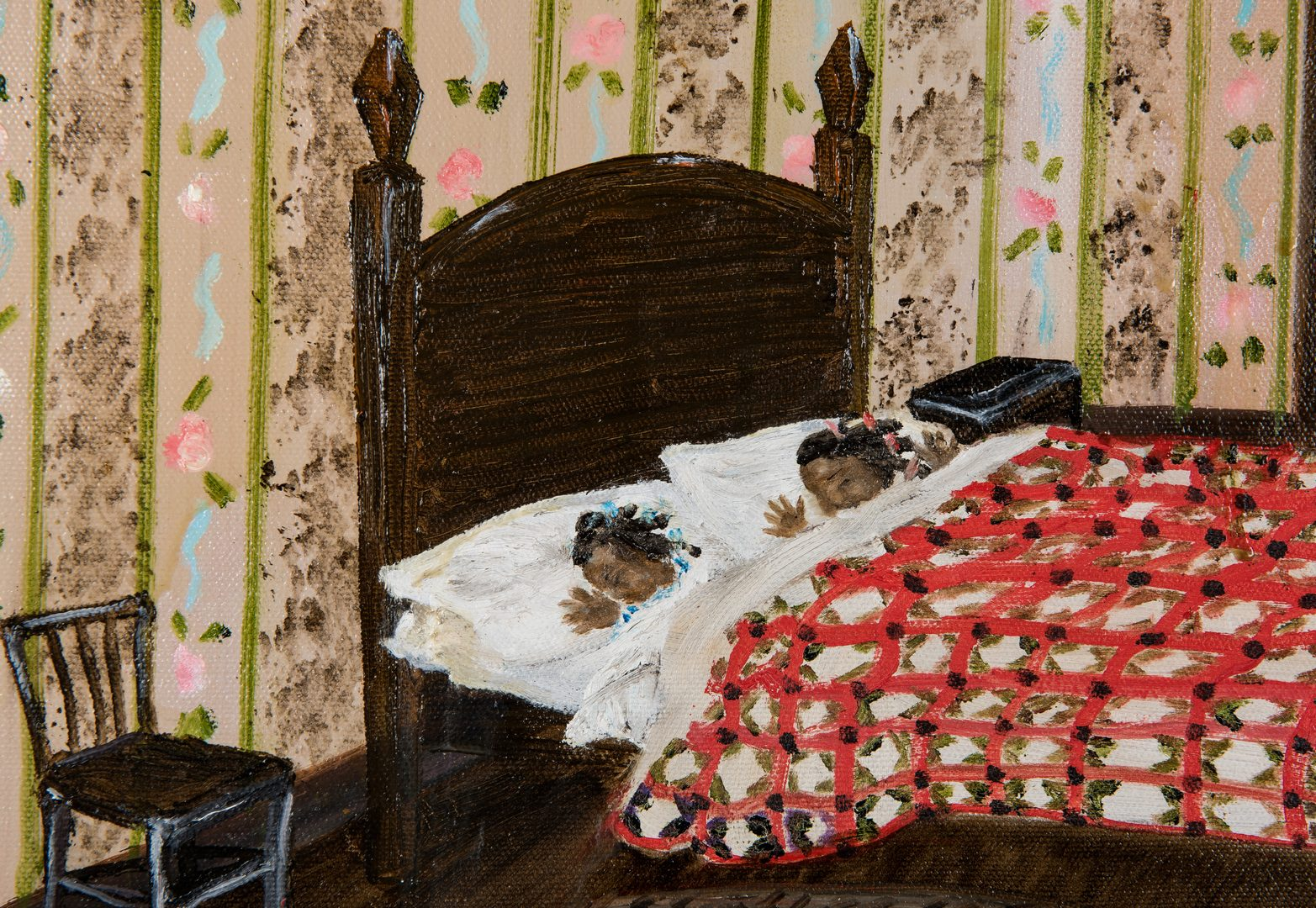 Lot 126: Helen LaFrance O/C, Children Sleeping