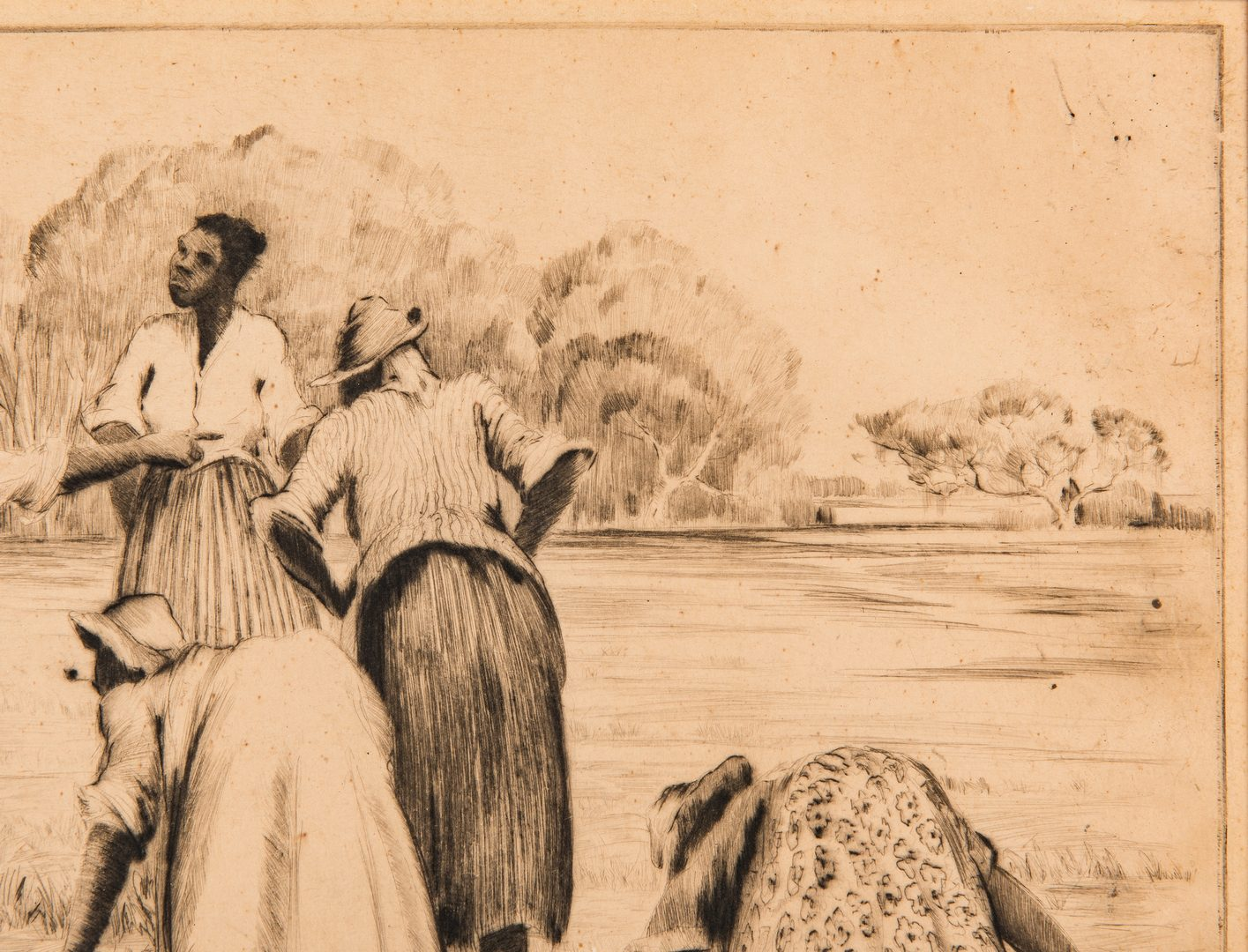 Lot 127: Alfred Hutty Drypoint Etching