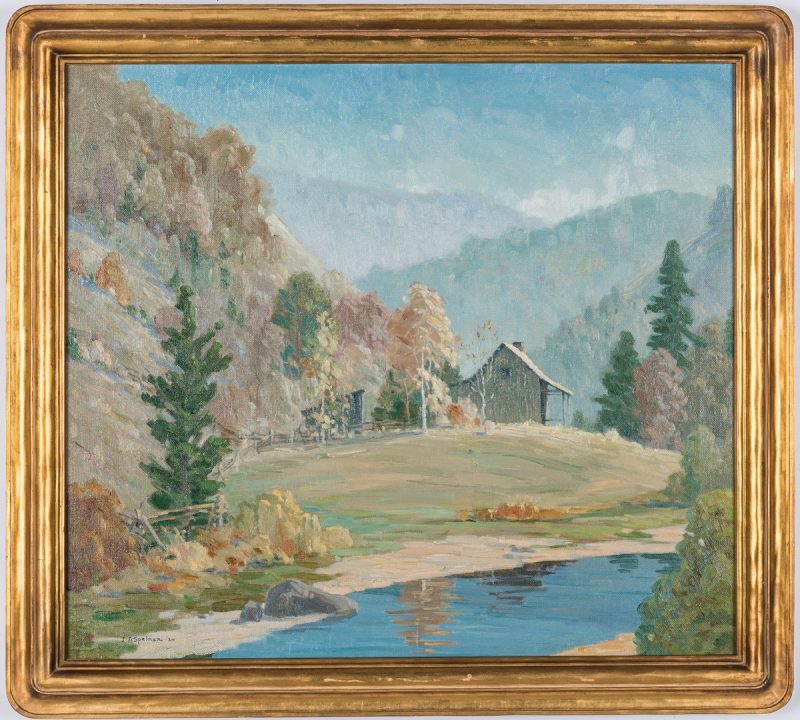 Lot 129: John Spelman O/C, Smoky Mountain Cabin
