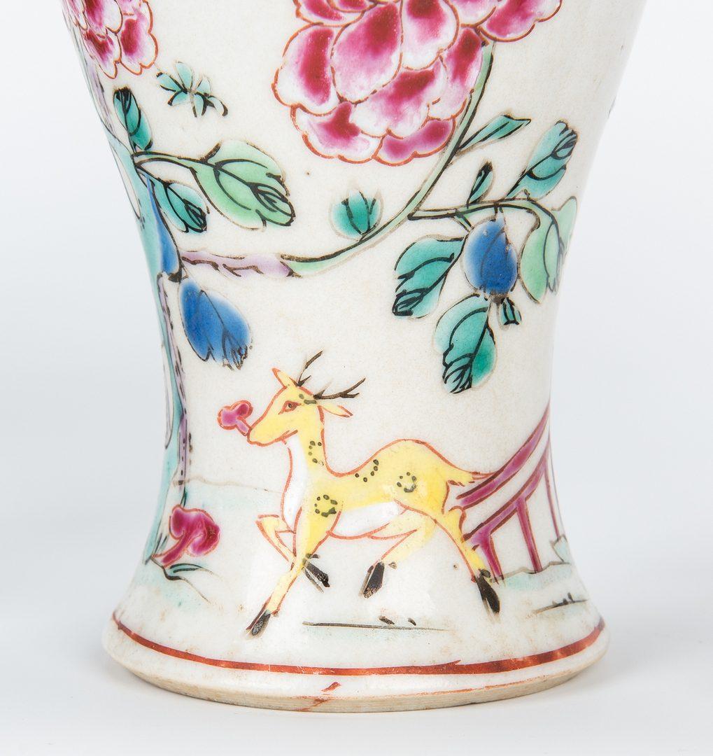 Lot 12: 4 Famille Rose Export Porcelain Vases
