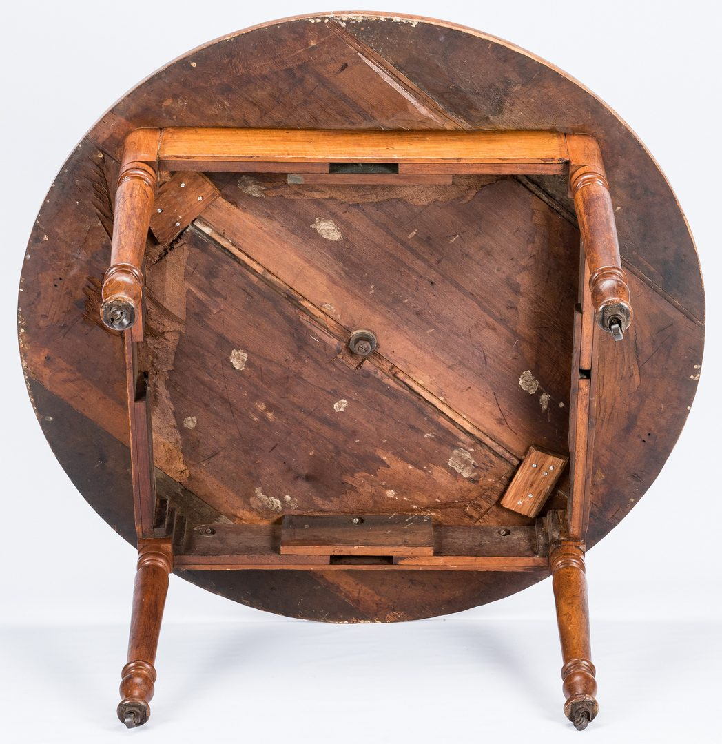 Lot 135: Southern Round Lazy Susan Table