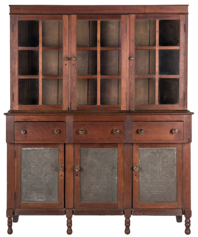 Lot 137: Southwest Virginia Pie Safe Sideboard Press