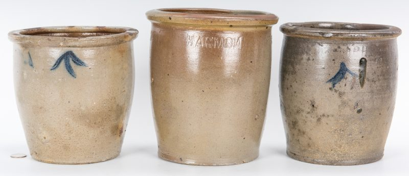 Lot 140: 3 East TN M. P. Harmon Stoneware Jars