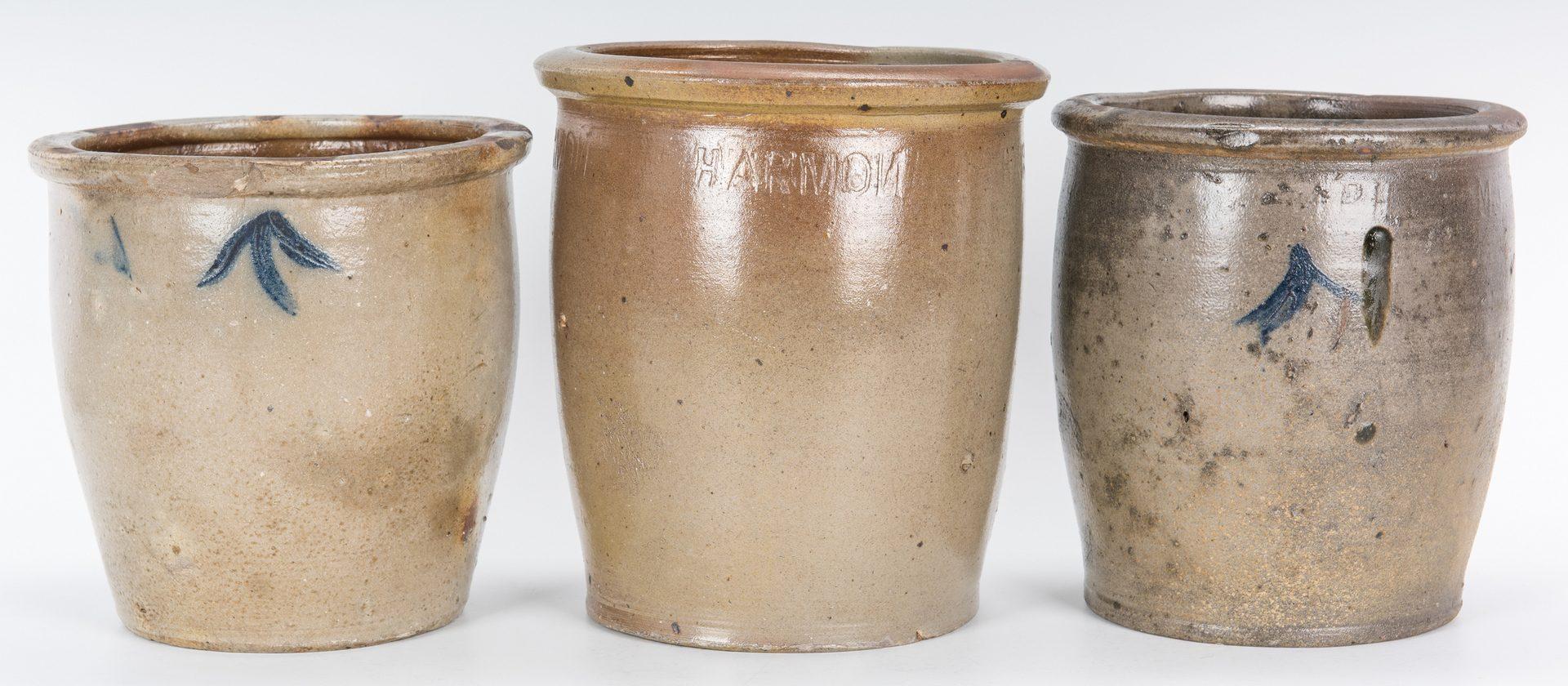 Lot 140: 3 East TN M. P. Harmon Stoneware Jars