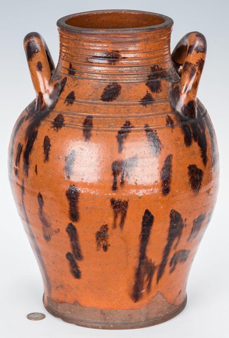 Lot 141: East TN Earthenware Jar w/ Manganese Decoration