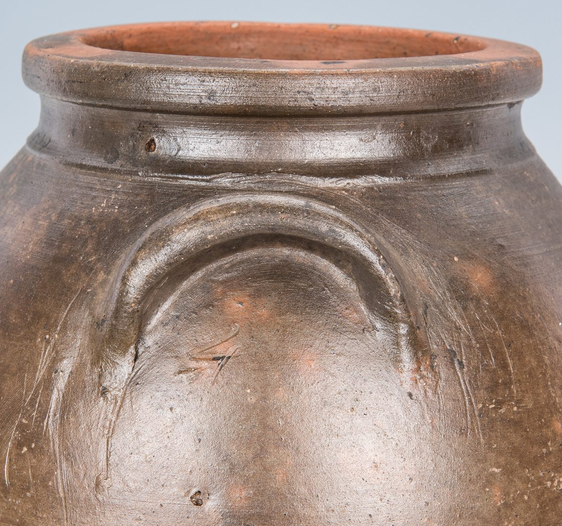 Lot 143: 2 East TN Stoneware Pottery Jars, 1 exhibited