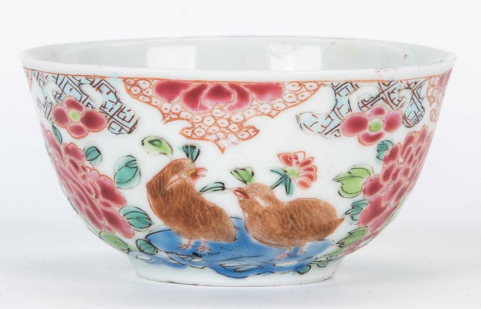 Lot 14: Yongzheng Teapot and 4 cups
