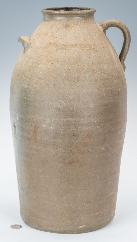 Lot 150: Middle TN Stoneware Pottery Jar, Signed Bradford