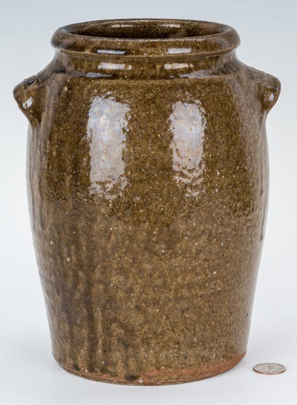 Lot 153: NC Stamped Daniel Seagle Pottery Stoneware Jar, One Gallon