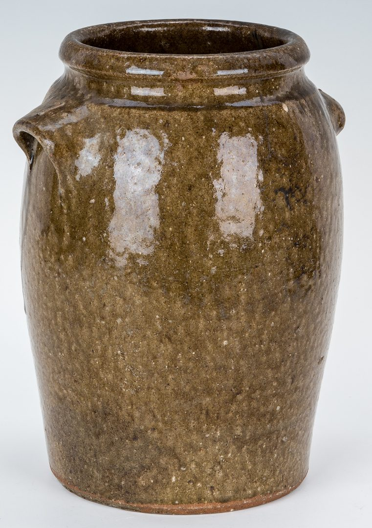 Lot 153: NC Stamped Daniel Seagle Pottery Stoneware Jar, One Gallon