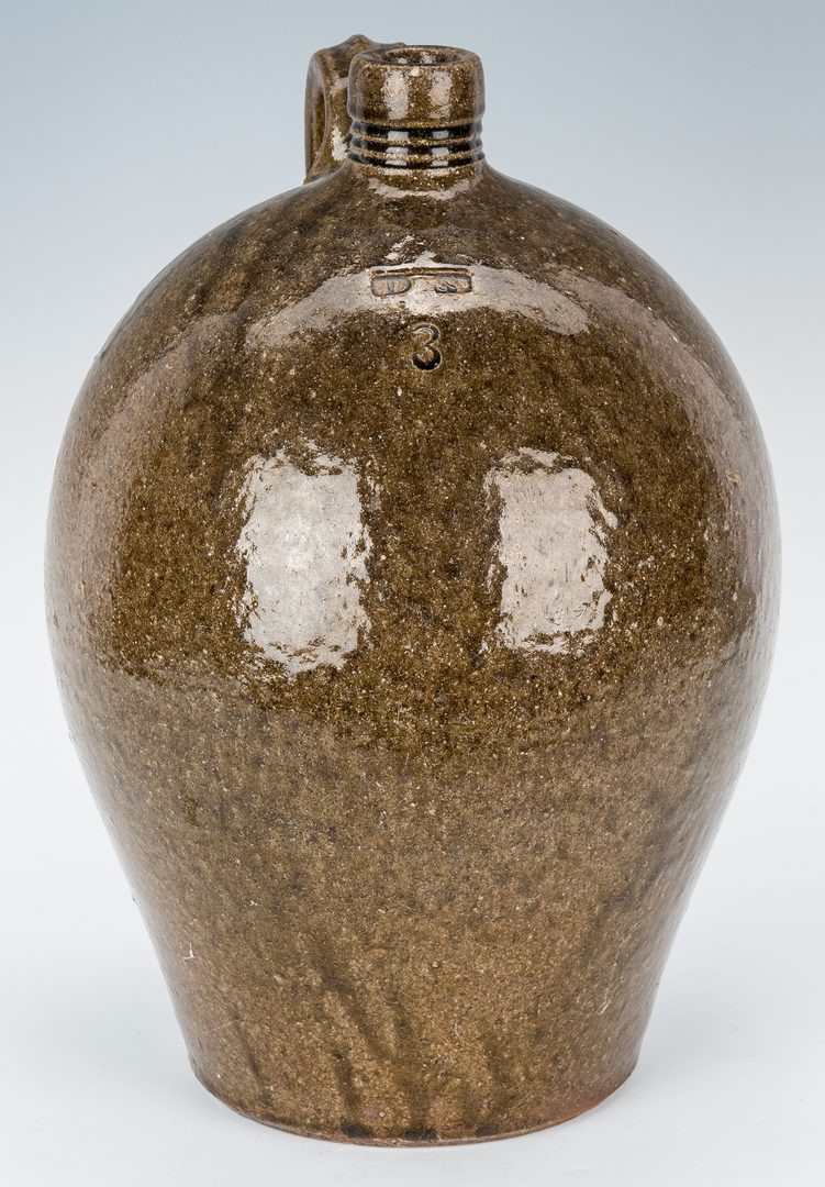 Lot 155: NC Stamped Daniel Seagle Pottery Jug, 3 Gallon