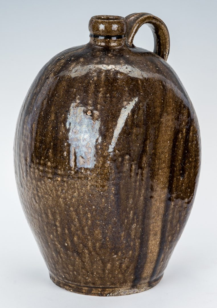 Lot 157: NC Stamped Daniel Seagle Pottery Jug, One Gallon